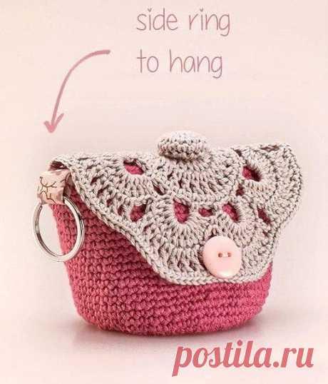 Маленькая сумочка, связанная крючком – Мир вязания и рукоделия