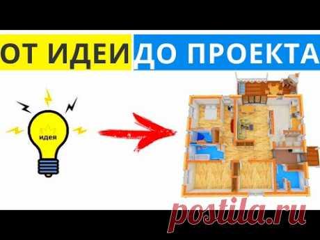 Зарождение Планировки. Индивидуальный Проект Одноэтажного Дома с тремя спальнями. Проект Дома DT-5.