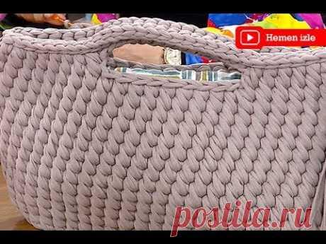 Ezgi Sertel'de sarmal çanta yapımı
