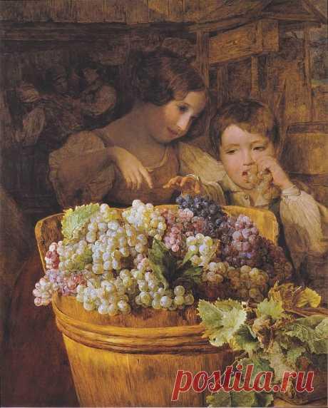 Виноград в живописи разных художников