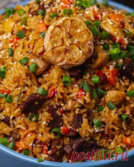 Шикарный рис с мясом