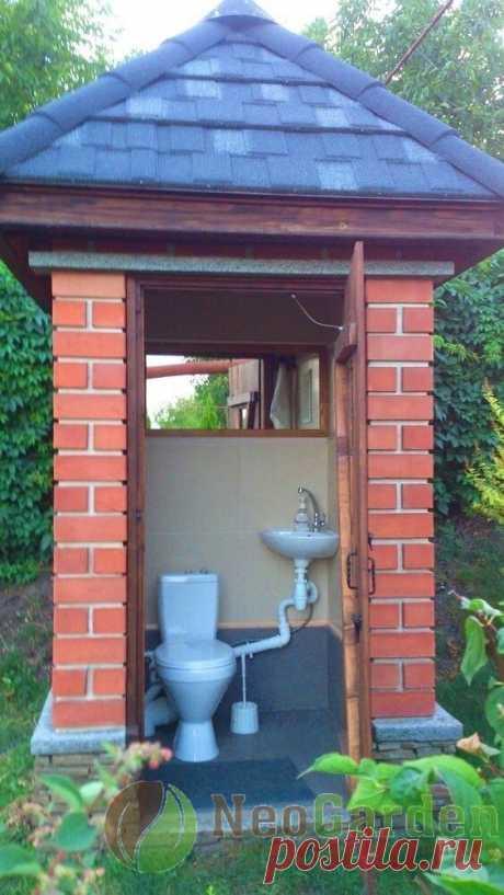Классный дачный туалет 🏻