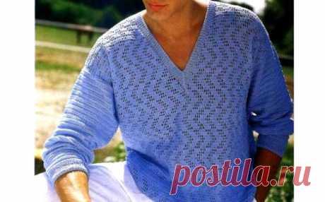 Летний пуловер для мужчины