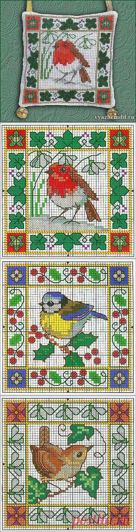 Птицы - схемы вышивки | Милые мелочи