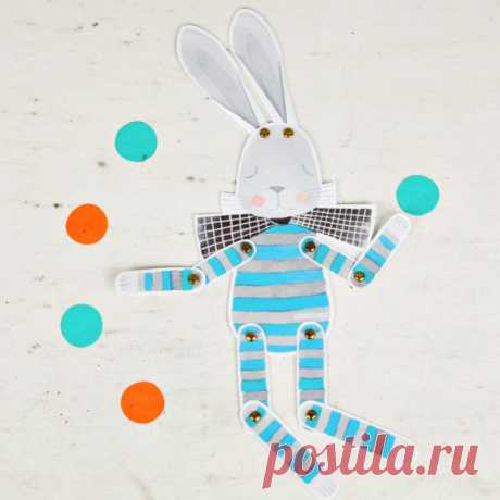 CUTE PAPER BUNNY PUPPET - Hello Wonderful