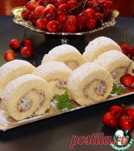 Рулетный бисквит из трех ингредиентов – кулинарный рецепт