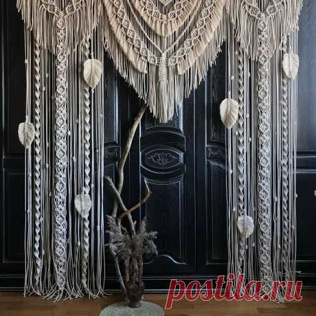 Макраме арка, штора «Сказка» – заказать на Ярмарке Мастеров – KEC42RU | Оформление зала, Санкт-Петербург