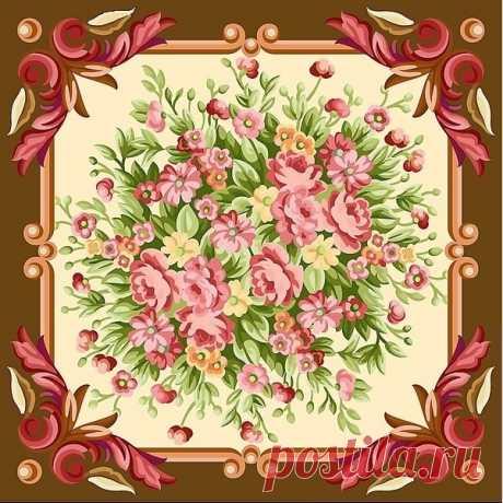 """Оригинал - Схема вышивки «подушка""""прекрасная роза""""» - Автор «Sharmanka» - Авторы - Вышивка крестом"""