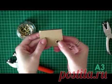 Как установить люверсы (блочки) без специальных инструментов