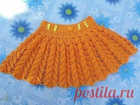 Солнечная юбочка для девочки из категории Интересные идеи – Вязаные идеи, идеи для вязания