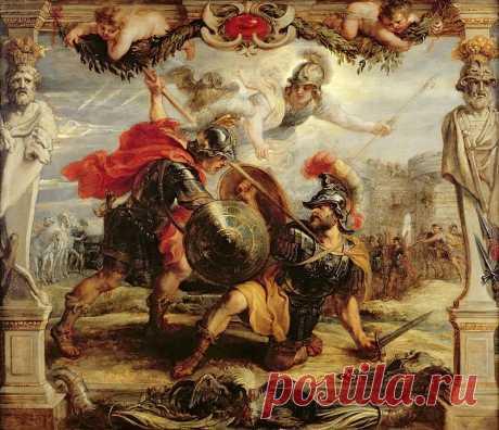 Победа Ахиллеса над Гектором. Питер Пауль Рубенс. Описание картины, скачать репродукцию.