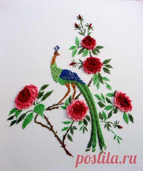 Способов вышивать розы много не бывает, всегда можно еще что- то придумать! | ВЕРА БУРОВА | Яндекс Дзен