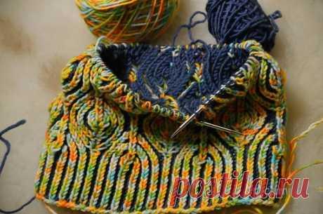 Техника вязания спицами бриош: мастер класс и описание как делать узор листья - Сайт о рукоделии