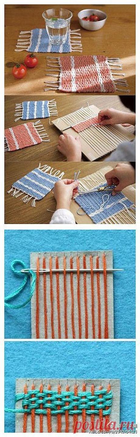 Como es fácil hacer el tapiz pequeño por las manos