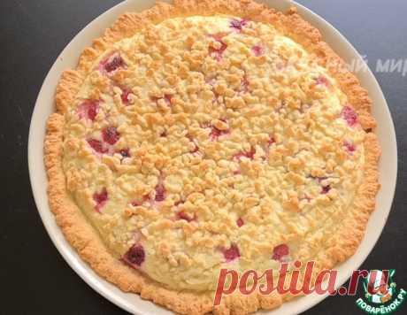 Творожный тёртый пирог с ягодами – кулинарный рецепт
