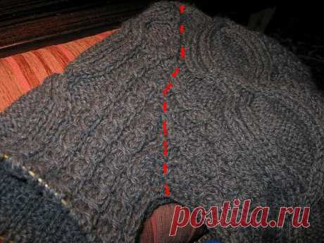 Вязание рукава сверху от плеча спицами - у бабушки ИМатвевны