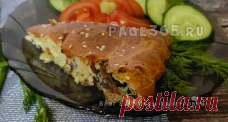 Заливной пирог с рыбными консервами - быстро и вкусно