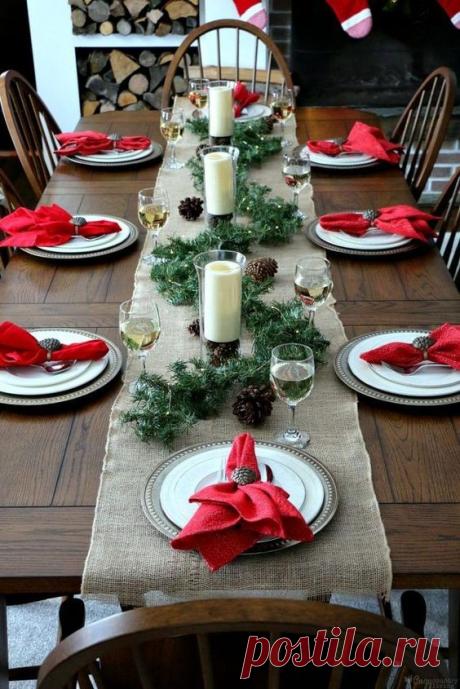 Новогоднее оформление стола - создайте праздник своими руками!Идеи декора!   Юлия Жданова   Яндекс Дзен