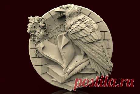 3d Raven Silicone Mold Medallion Wild Birds Silicone Mold | Etsy