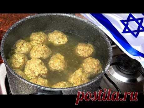 Кнейдлах от лучшего Еврейского Шеф Повара + мясо в грибном соусе + грудинка, фаршированная грибами