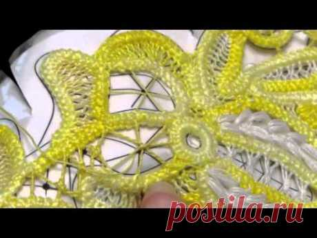Como hacer el encaje delgado el hilo por la aguja con el hilo