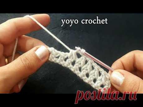 كروشية غرزة الترينتو / غرزة رجالى ونسائى / للكثير من المشاريع/ Crochet Trento Stitch#يويو كروشية