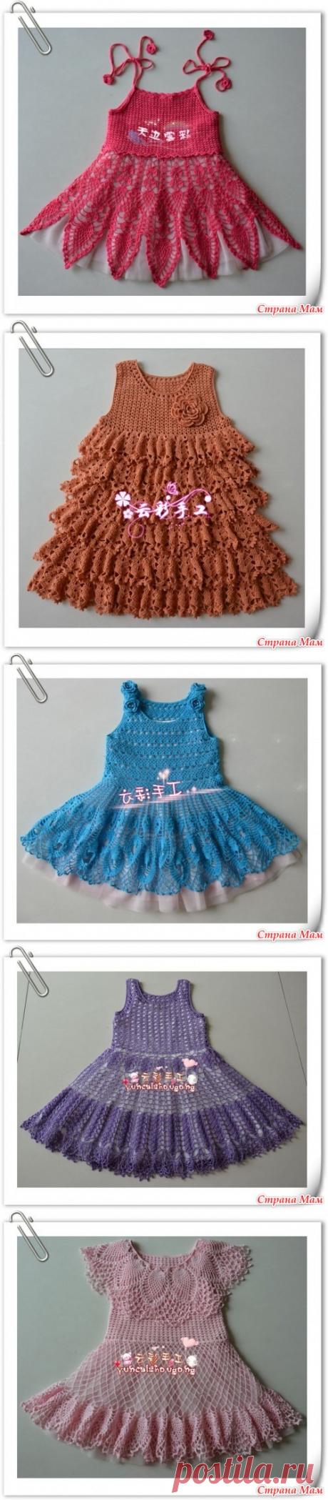 Платья для девочек - Вязание для детей - Страна Мам
