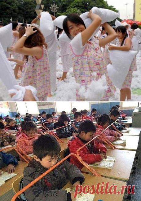 Как китайцы сохраняют осанку детей с детства ( 2 фото ) | Краше Всех