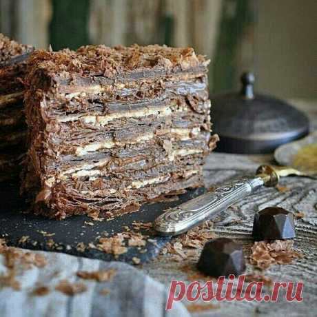 """Шикарный шоколадно-кофейный """"Наполеон"""""""
