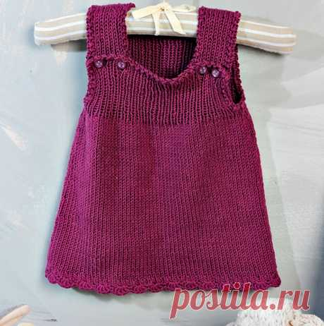 Вязаное платье для малышки и штанишки — Shpulya.com - схемы с описанием для вязания спицами и крючком