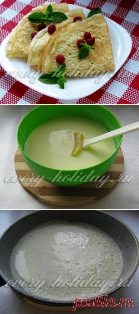 Los crepes sobre el kéfir: la receta delgado con dyrochkami