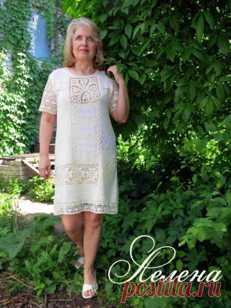 Туника-платье в стиле Бохо.