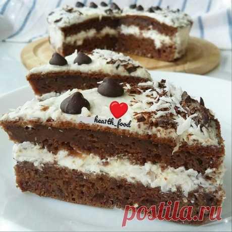 ПП-шоколадно-банановый тортик  Диаметр формы d = 16см 2 яйца 150мл.кефира 1спелый банан (размять вилкой) ~30г.какао ~100г.рисовой муки 50г.темного шоколада(растопить на водяной бане) 0,5ч.л.разрыхлителя стевия/сахзам,корица,ванилин(по вкусу) ♢Смешиваем все ингредиенты, кроме белков.Отдельно взбить белки.Потом вводим взбитые белки и опять аккуратно перемешиваем. ♢Выпекаем в духовке при 180°,~30мин (в зависимости от духовки)смазанной маслом форме или в силиконовой.Сразу из ф...