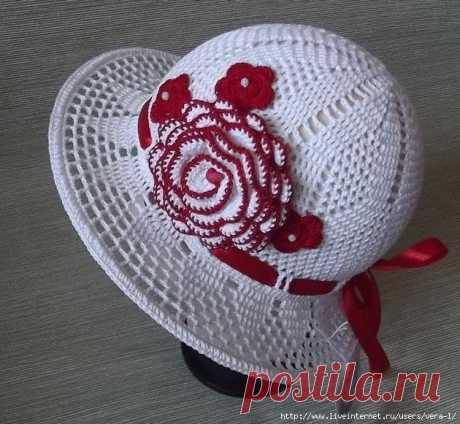 Шляпка Ольги Егуновой. Схемы вязания крючком