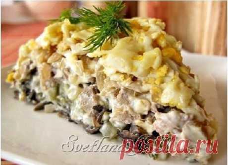"""Фирменный рецепт минского ресторана - салат """"Орландо"""" Очень вкусно!"""