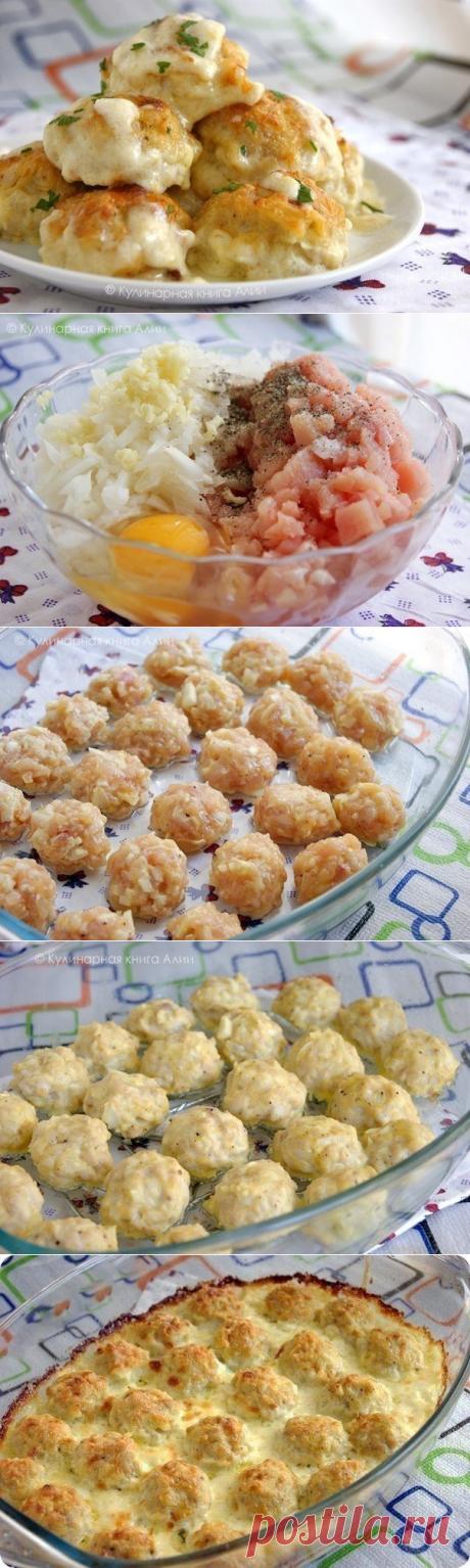 Теперь у Вас будет ещё одно коронное блюдо! Нежные куриные шарики в сырно-сливочном соусе. — Вкусные рецепты