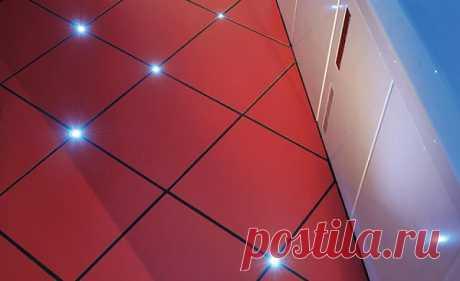 Современная ванная комната - светодиодная подсветка в полу.