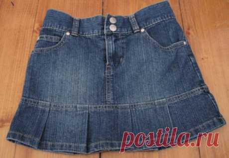 Юбка из старых джинсов своими руками: мастер-класс