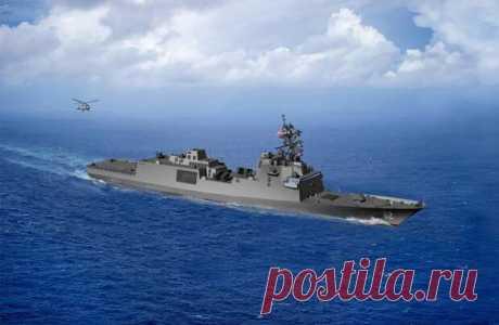 Программа разработки и строительства фрегатов FFG(X) для ВМС США - БАЗА 211- ВОЕННАЯ ИСТОРИЯ - медиаплатформа МирТесен Ожидаемый внешний вид будущих FFG(X). Графика US Navy После не самой удачной программы LCS военно-морские силы США решили запустить новый проект, целью которого опять является создание боевых кораблей для прибрежной и морской зон. Недавно в рамках новой программы FFG(X) завершился конкурсный этап,