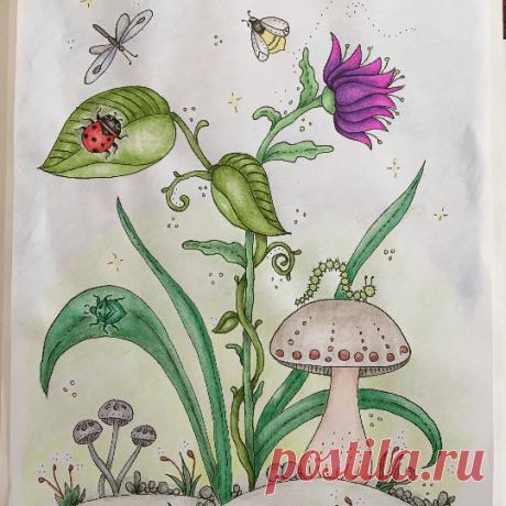 Bitsamerth08 - 10-07-2020 Johanna Basford Coloring Gallery Взгляните на это великолепное произведение искусства в галерее красок Джоанны Басфорд!
