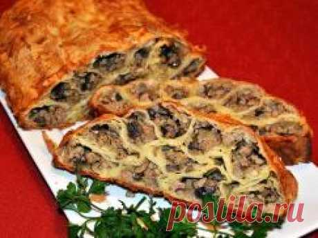 Пирог с мясом Монастырская изба