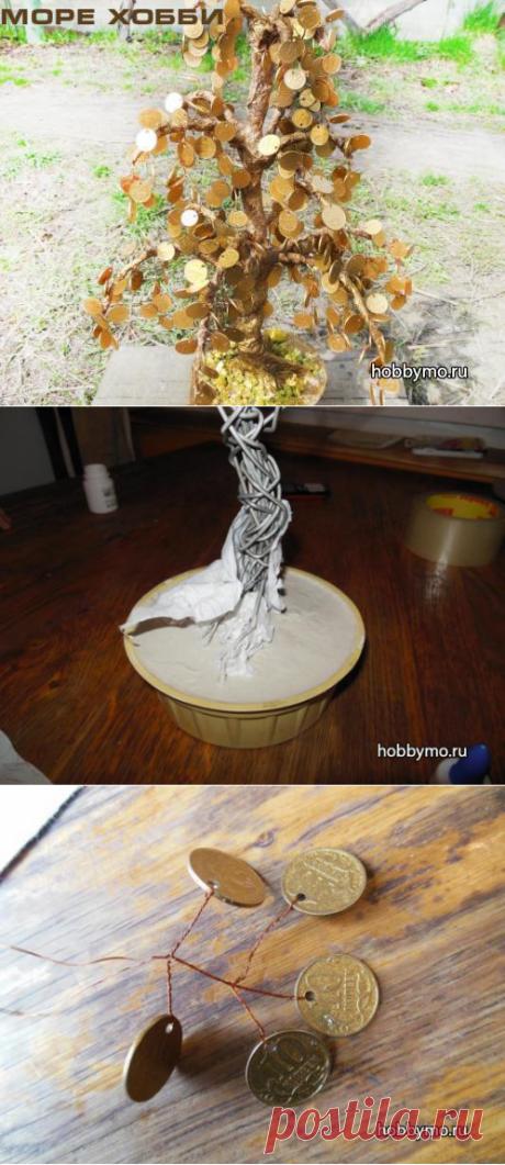 Мастер-класс 'Денежное дерево из монет своими руками, мк с пошаговыми фото' - Море хобби. Мы расскажем вам все о рукоделии и мастер-классах