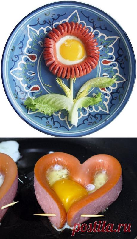 Красивый способ приготовить яичницу — Фактор Вкуса
