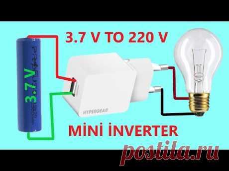 3.7 VOLT 220 VOLT İNVERTER DEVRESİ - ESKİ ŞARJ ALETİNDEN-  Mini inverter 3.7 V to 220V