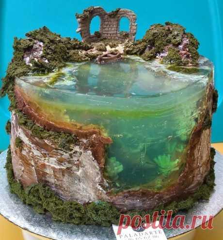 20 кондитерских шедевров: повара скучают по тропическим островам и воссоздают их в виде тортиков - Тролльно