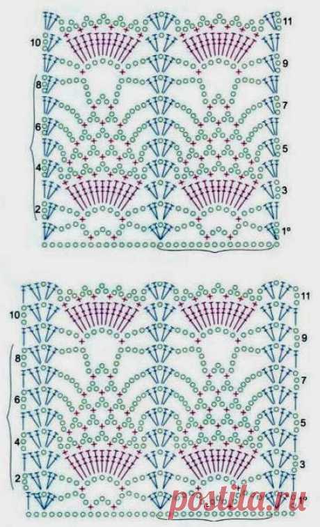 Knitting by a hook, schemes: a cardigan a hook - Ladiesvenue
