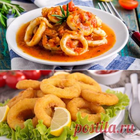 10 классных рецептов блюд с кальмарами