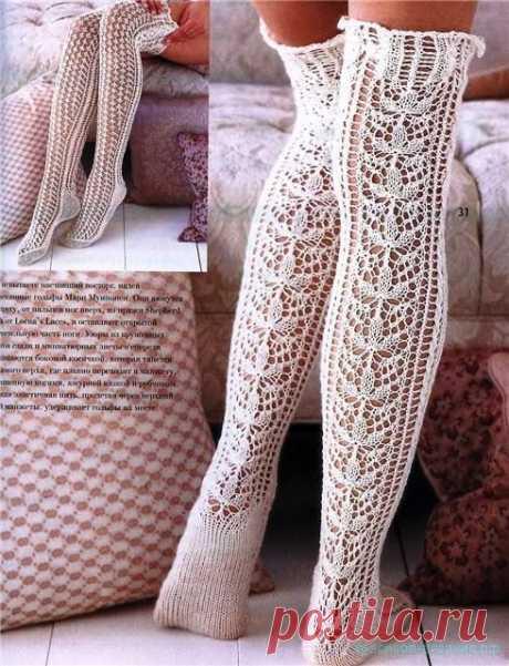 Красивое вязание | Обувь, гетры, носки
