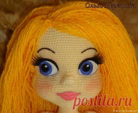 Советы по оформлению лица вязаной куклы