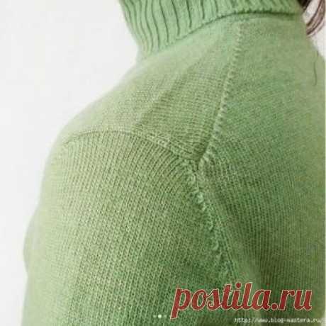 Как вывязывают конструктивно удобное и красивое «японское плечо»!